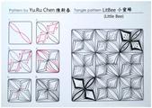 MY Tangle Pattern:自創圖樣-009 LitBee 小蜜蜂.jpg
