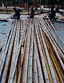 竹屋(竹建築)    竹裝潢:竹屋瓦備料