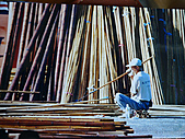 竹屋(竹建築)    竹裝潢:通竹結
