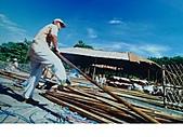 竹屋(竹建築)    竹裝潢:剖竹
