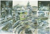 大陸一級美術家朱小芬畫作收藏頁:〔城市〕組畫之一(水粉畫)朱小芬.jpg