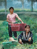 關庄健,我又找了一位畫家的畫作來讓大家欣賞:水彩   希望的田野.jpg