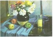 大陸一級美術家朱小芬畫作收藏頁:瓶花027(水粉畫)朱小芬.jpg