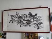 中國畫家贈予的八駿馬墨畫,力道真是美啊:IMG_4368.JPG