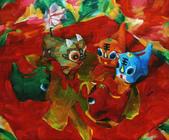 關庄健,我又找了一位畫家的畫作來讓大家欣賞:油画  五福.JPG