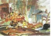 大陸一級美術家朱小芬畫作收藏頁:室內小景009(水粉畫)朱小芬.jpg