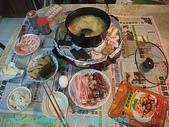 2008/9/14免出門,在家火烤兩吃:滿桌
