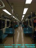 2009/1/26大年初一夜排馬家庄.初二領紅包:空空的捷運車廂