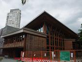 2009/8/11北投圖書館&附近:圖書館的圍牆在整修