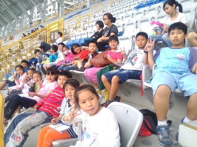 20131023【301小蘿蔔】第一次校外教學-102全國運動會-場館參觀與比賽欣賞: