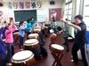 20140222《鼓藝擊樂社》帶學長領頭的組別~好HIGH啊!