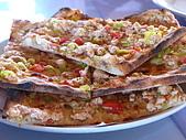 Turkey-食物:土耳其的薄餅pizza,好吃