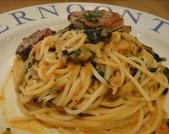 吃吃 喝喝 到處吃:雞肉波菜蕃茄奶油義大利麵-麵普普;雞肉好好吃