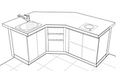 我畫的圖:Mini Bar立體圖
