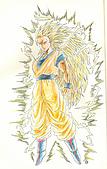 大屍的歡樂塗鴉:孫悟空-超級賽亞人3