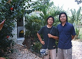 【貝里斯。生活】Belize Life就是愛海泥根:貝里斯蘭園餐館與學長合照