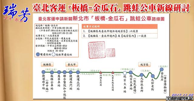1061102臺北客運『板橋-金瓜石』跳蛙公車新線研討cover - 瑞芳交通政策