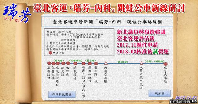 1061121臺北客運『瑞芳-內科』跳蛙公車新線研討cover - 瑞芳交通政策