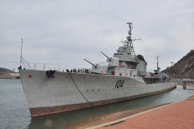 世界的博物館  軍事類:前蘇聯海軍果敢級驅逐艦 大連老虎攤104艦博物館