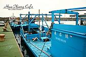 花蓮縣.花蓮市.花蓮漁港休閒碼頭:[mr.coffee] 因為我們跳來跳去,所以船越來越遠,後來還拉繩子才把船拉回來